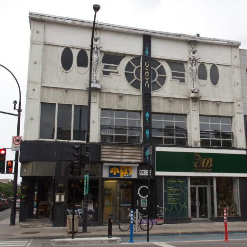 Bar Lézard's facade today. On Saint-Denis street near Rachel street. Picture Credit : Marion Daigle. Collection of the Archives gaies du Québec.