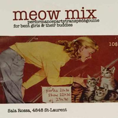 Meow Mix flyer, 2010-2011. Photo credit: kimura*lemoine