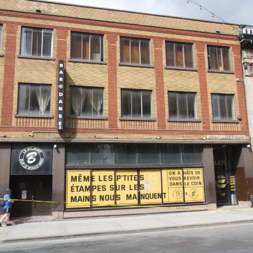 Belmont's facade today. On Saint-Laurent boulevard and Mont-Royal avenue East. Picture Credit : Marion Daigle. Collection des Archives gaies du Québec.