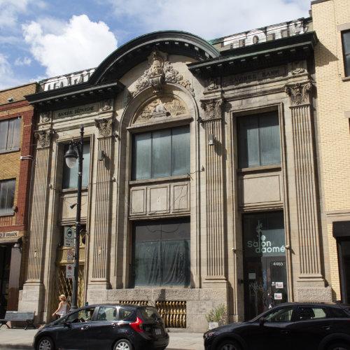 Cirque's facade today. On Saint-Laurent boulevard and Mont-Royal avenue East. Picture Credit : Marion Daigle. Collection des Archives gaies du Québec.